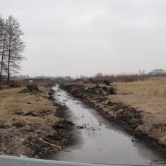 1.Rozpoczęcie prac - Udrożnienie odpływu kanału