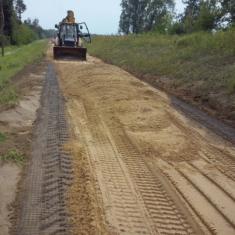 9. Podbudowa żwirowa pod nawierzchnię drogi